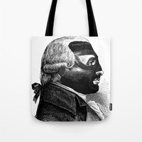 wrestling Tote Bags featuring WRESTLING MASK 5 by DIVIDUS