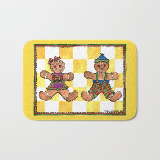 The Gingerbread Twins Bath Mat