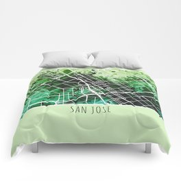 San Jose City Map / Green Comforters