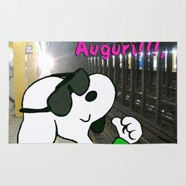 """Italian Snoopy at 23 street"" Rug"