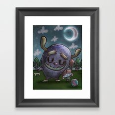 Monster friend Framed Art Print