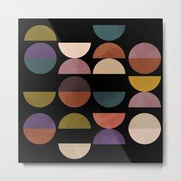 mid century abstract geometric autumn 3 Metal Print