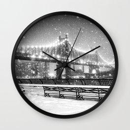 New York City Snow Wall Clock