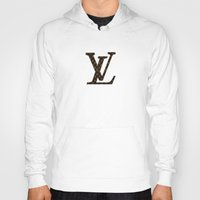 lv Hoodies featuring LV Pattern by Veylow