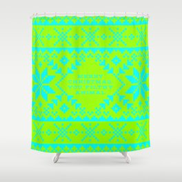 Ugly Holiday Sweater Shower Curtain
