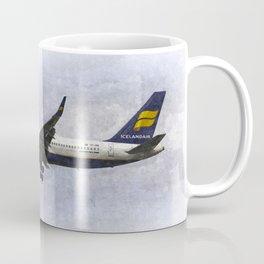 Icelandair Boeing 757 Art Coffee Mug