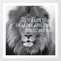 lion heart.  Art Print