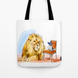 The Real King Frenchie Tote Bag