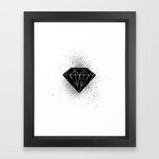Black diamond! Framed Art Print