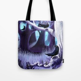 The Ostragon Woodlands Where Bright Ravens Watch Tote Bag