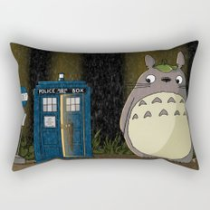Allons-y Totoro alternate Rectangular Pillow