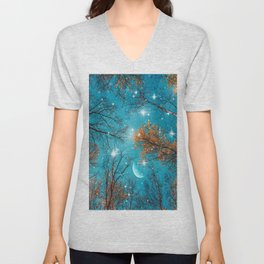 Starry Sky in the Woods Unisex V-Neck