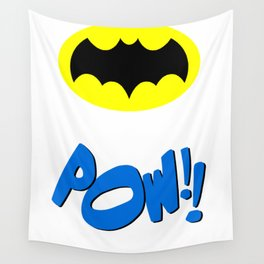 1966 Bat Chest Emblem and POW!! Artwork Wall Tapestry