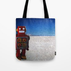 Toy Robots Attack 1 Tote Bag