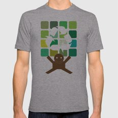 green world Mens Fitted Tee Athletic Grey SMALL