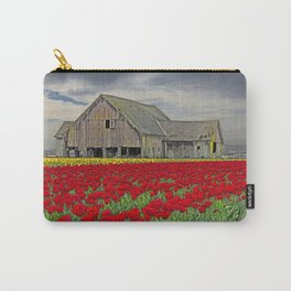 RED TULIPS AND BARN SKAGIT FLATS Carry-All Pouch