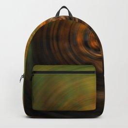 Ripple in Green Orange Water Backpack
