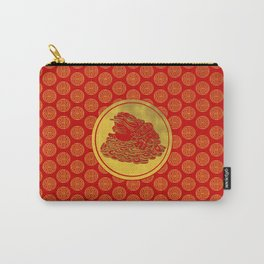 Three Legged Lucky Money Frog Feng-shui Carry-All Pouch