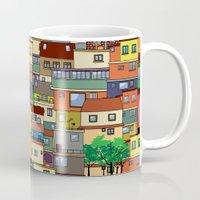 rio de janeiro Mugs featuring Favela, Rio de Janeiro by Rceeh