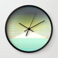 northern lights Wall Clocks featuring Northern Lights by Tammy Kushnir