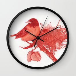 Nested Oriole Wall Clock