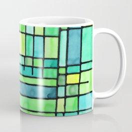 Green Frank Lloyd Wrightish Stained Glass Coffee Mug