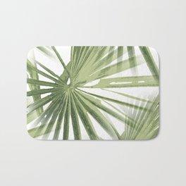 Tropical Beach Palm Vector Bath Mat