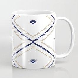 Navajo Pattern - Tan / Navy / White Coffee Mug