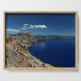 Crater Lake View with Caldera Rim Serving Tray