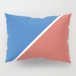 Fire Red & Mild Blue - oblique Pillow Sham