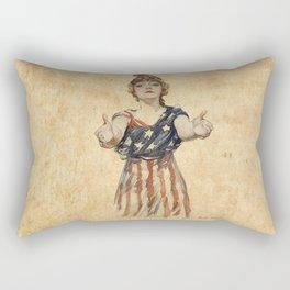 Inviting Patriotism Rectangular Pillow