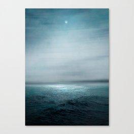 Sea Under Moonlight Canvas Print