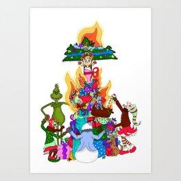 Infernal Grinch Farandole Art Print