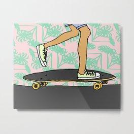 Mr. Skateboarder Metal Print