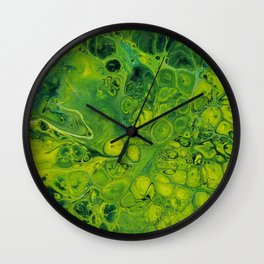 Lily Pad_Abstract Painting Wall Clock