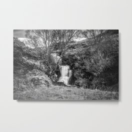 Ardvreck Castle Waterfall Metal Print