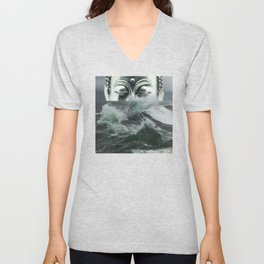 Buddha in the sea Unisex V-Neck