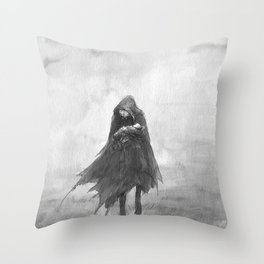 The Mezzotint Throw Pillow
