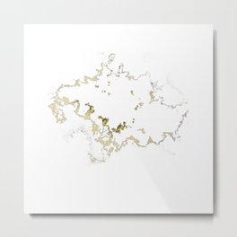 Golden Cloud shape Metal Print
