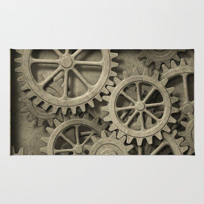 Steampunk Cogwheels Rug