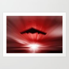 Red fire in the horizon. Art Print
