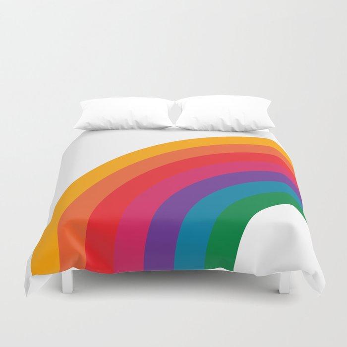 Retro Bright Rainbow - Left Side Bettbezug