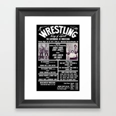 #8-B Memphis Wrestling Window Card Framed Art Print
