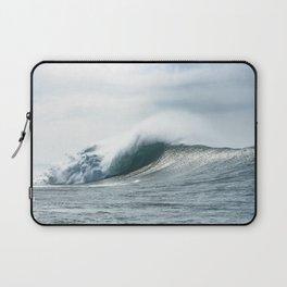 Big waves Nazaré view from ocean Laptop Sleeve
