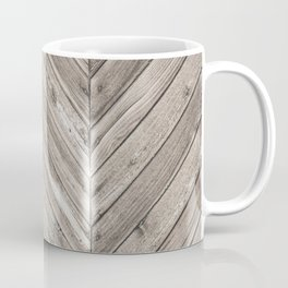 Herringbone Weathered Wood Texture Coffee Mug