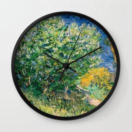 Lilacs by Vincent van Gogh Wall Clock