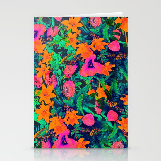 CRAZY FLOWERS Stationery Cards