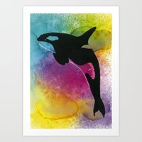 killer whale Art Prints featuring Killer whale! by Ann-Charlotte K