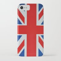 union jack iPhone & iPod Cases featuring Union Jack by MICHELLE MURPHY