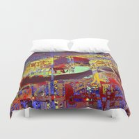 miami Duvet Covers featuring miami by donphil